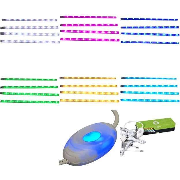 Σετ-τεσσάρων-λωρίδων-LED-RGB