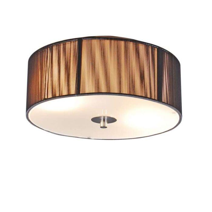 Κλασικό-φωτιστικό-οροφής-ανθρακί-30-cm---Σχοινί