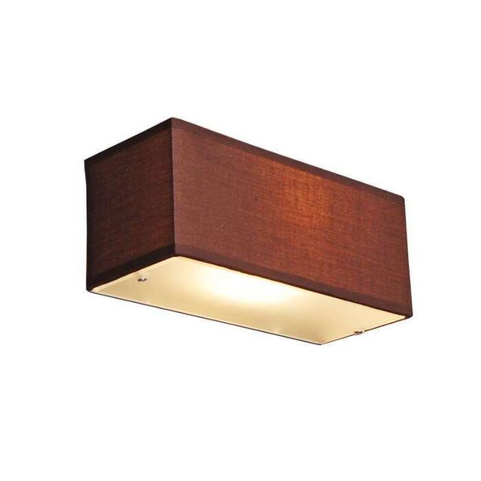 Φωτιστικό-τοίχου-Τύμπανο-ορθογώνιο-καφέ
