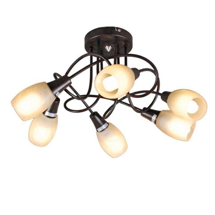 Φωτιστικό-οροφής-Andrea-6-σκουριά-καφέ