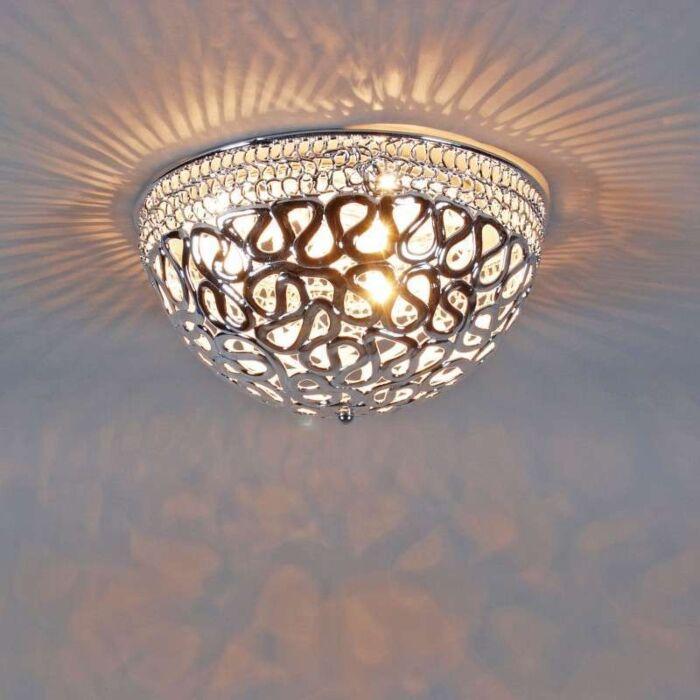 Φωτιστικό-οροφής-Pharaoh-40-χρώμιο