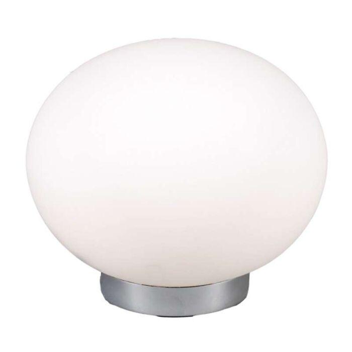 Επιτραπέζια-λάμπα-Ball-24-χάλυβα-με-λευκό-γυαλί