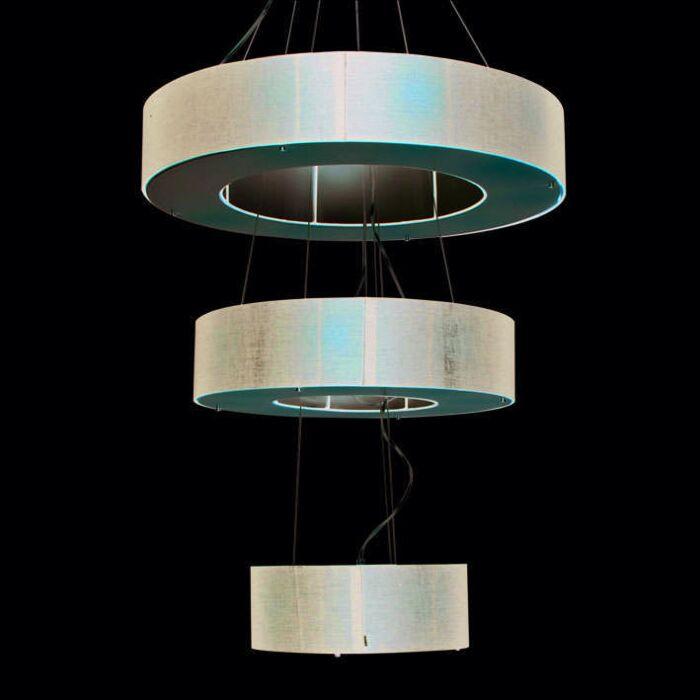 Κρεμαστή-λυχνία-Τύμπανο-Ανοιχτό-3-στρώσεων-μαύρο