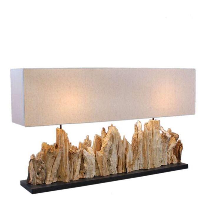 Επιτραπέζια-λάμπα-Thak-Extra-Grande-(115cm-!!)-με-λινό-χρώμα