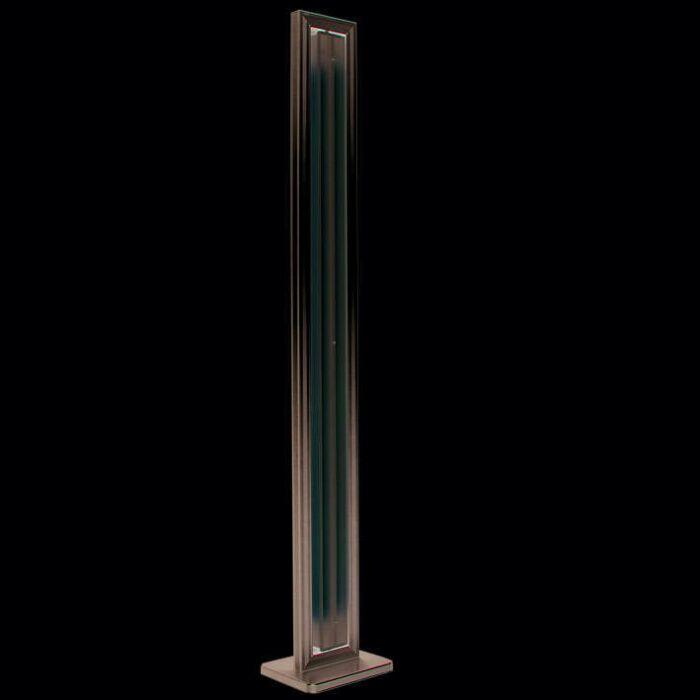 Φωτιστικό-δαπέδου-Σωλήνας-από-ασημί