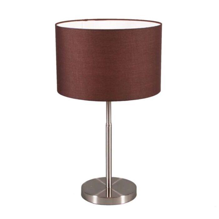 Επιτραπέζιο-φωτιστικό-Χάλυβας-τυμπάνου-με-καφέ-απόχρωση