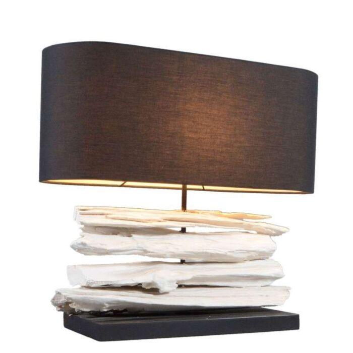 Επιτραπέζιο-φωτιστικό-Satun-μεσαίο-λευκό-με-μαύρη-σκιά