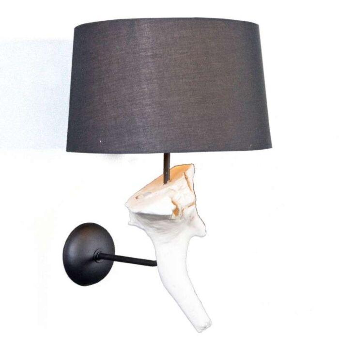 Φωτιστικό-τοίχου-Suchin-λευκό-με-μαύρη-σκιά