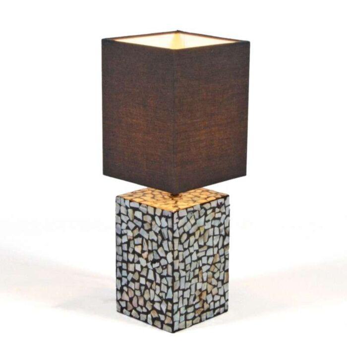 Επιτραπέζιο-φωτιστικό-Μαργαριτάρι-με-μαύρη-σκιά