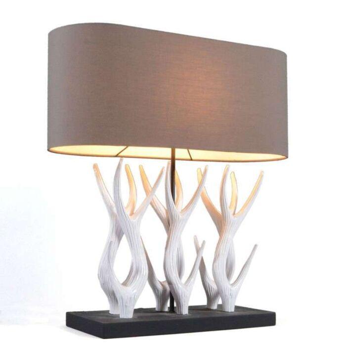 Επιτραπέζιο-φωτιστικό-Yindee-Recta-με-καφέ-απόχρωση