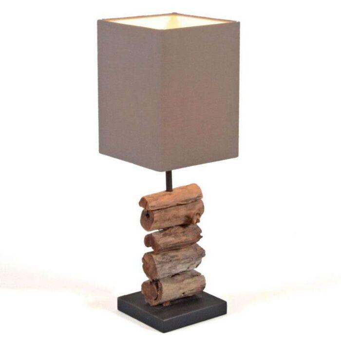 Επιτραπέζιο-φωτιστικό-Mayoree-με-καφέ-απόχρωση