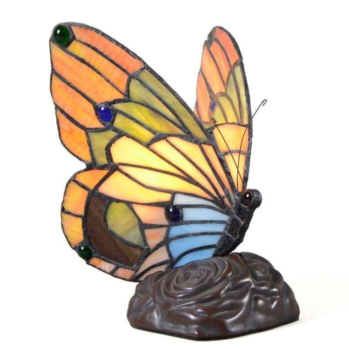 Επιτραπέζια-λάμπα-Tiffany-Πεταλούδα