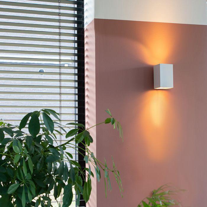 Μοντέρνο-φωτιστικό-τοίχου-τετράγωνο-λευκό---αμμώδες