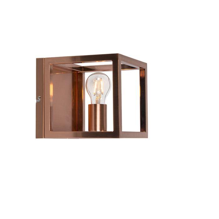 Φωτιστικό-τοίχου-Cage-1-χάλκινο-φωτιστικό