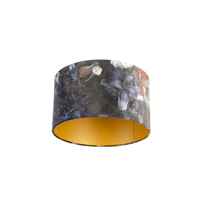 Βερνίκι-λαμπερό-σχέδιο-λουλουδιών-35/35/20-χρυσό-στο-εσωτερικό