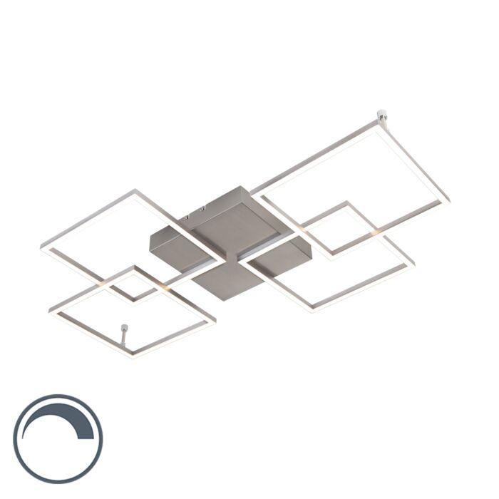 Σχεδίαση-λαμπτήρα-οροφής-από-χάλυβα-με-LED-και-dimmer---Plazas-Mondrian