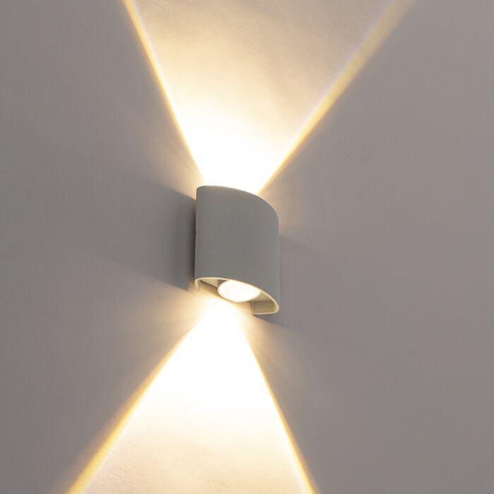 Σχεδιασμός-εξωτερικού-φωτιστικού-τοίχου-ασημί-με-LED-2-φώτα---Silly