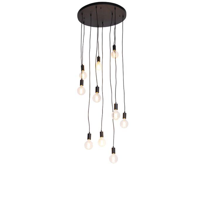 Σύγχρονη-κρεμαστή-λάμπα-μαύρο-60-cm-10-φώτα---Facil